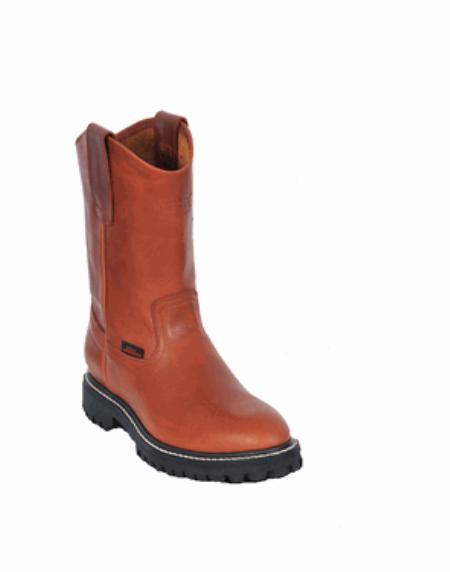Los Altos Grasso Nappa Work Boot with Full Lug Sole Honey