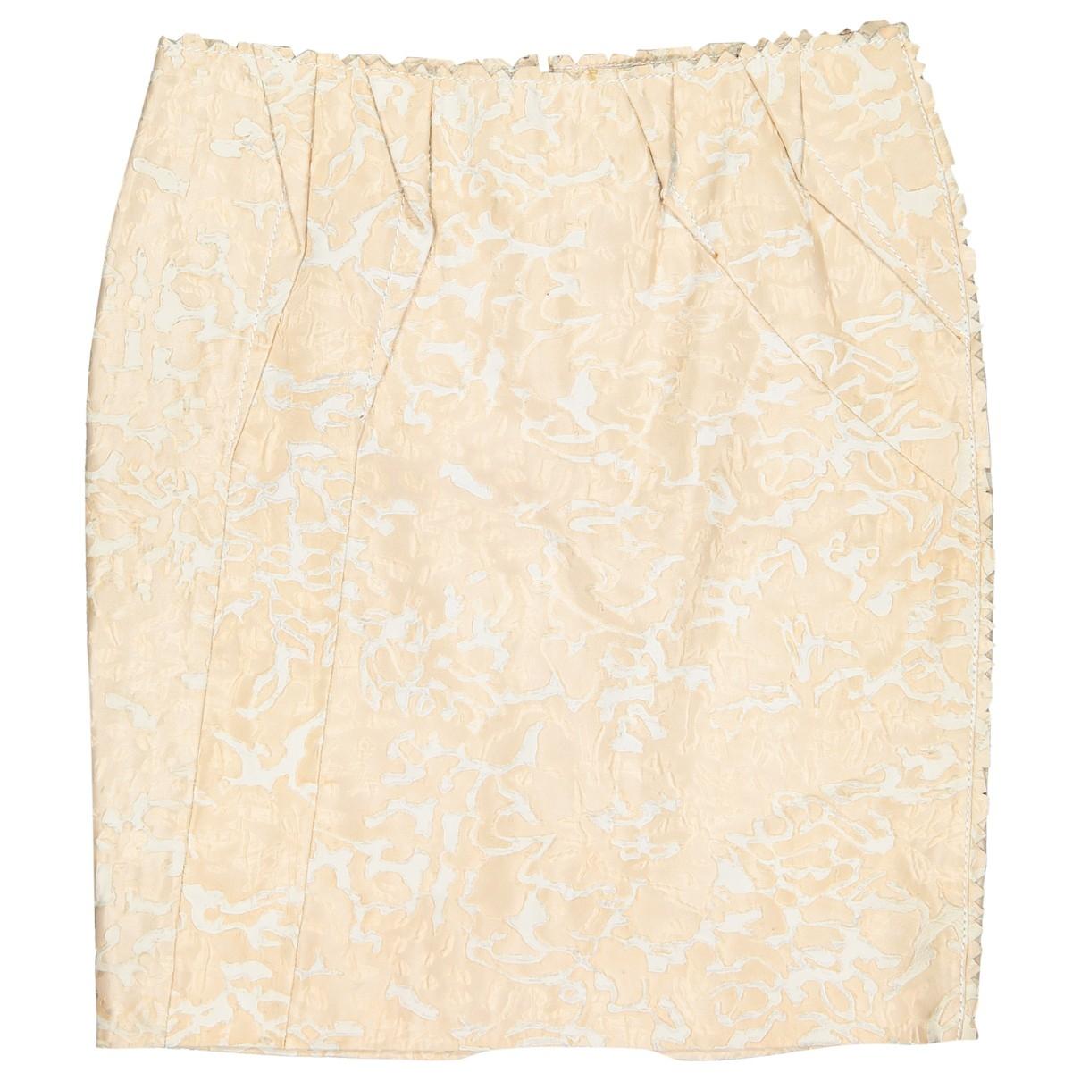 Dior - Jupe   pour femme en soie - beige
