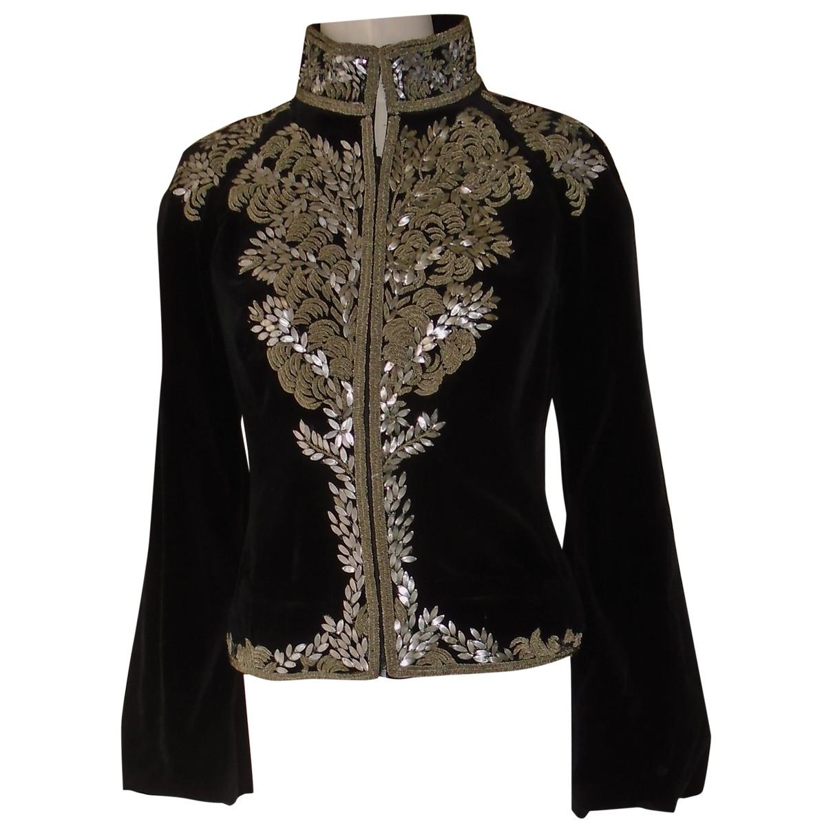 Alexander Mcqueen \N Black Velvet jacket for Women 40 IT