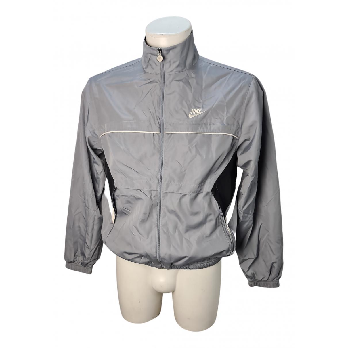 Nike \N Jacke in  Grau Polyester