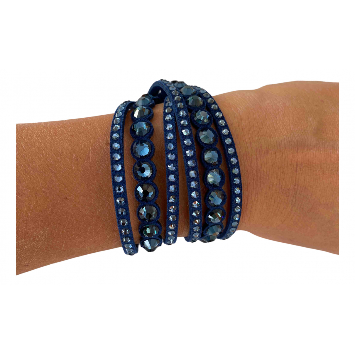 Swarovski - Bracelet Slake pour femme en cristal - bleu