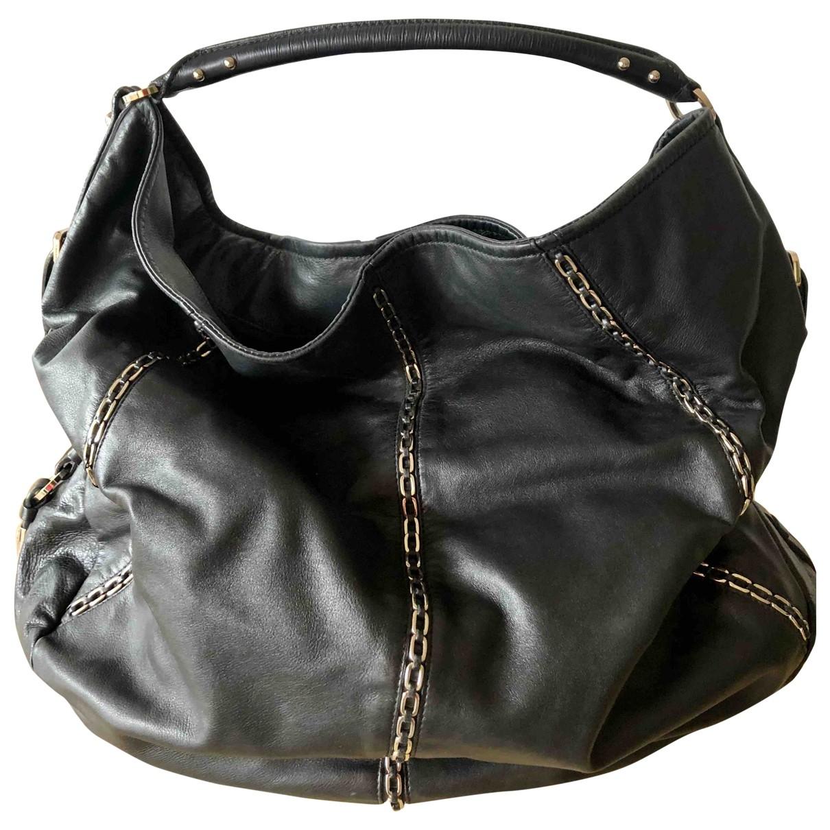 Sergio Rossi \N Black Leather handbag for Women \N