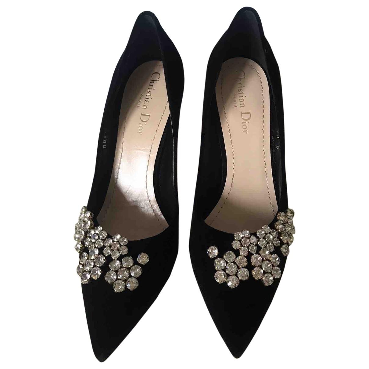 Dior - Escarpins Dior D-Stiletto pour femme en velours - noir