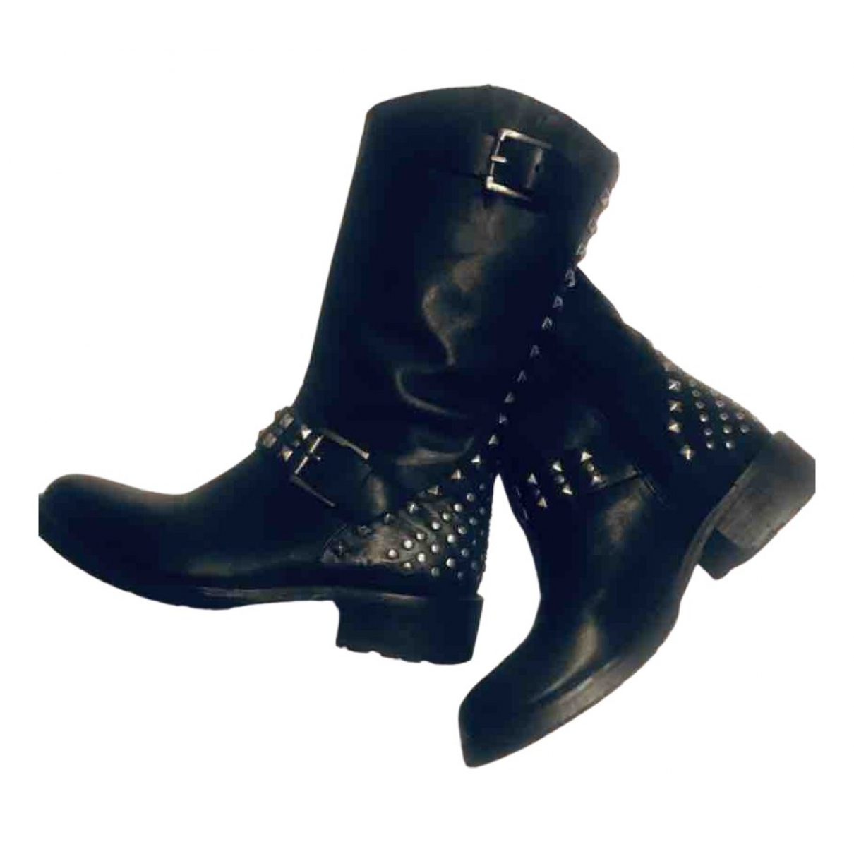 Buffalo \N Black Leather Boots for Women 36 EU