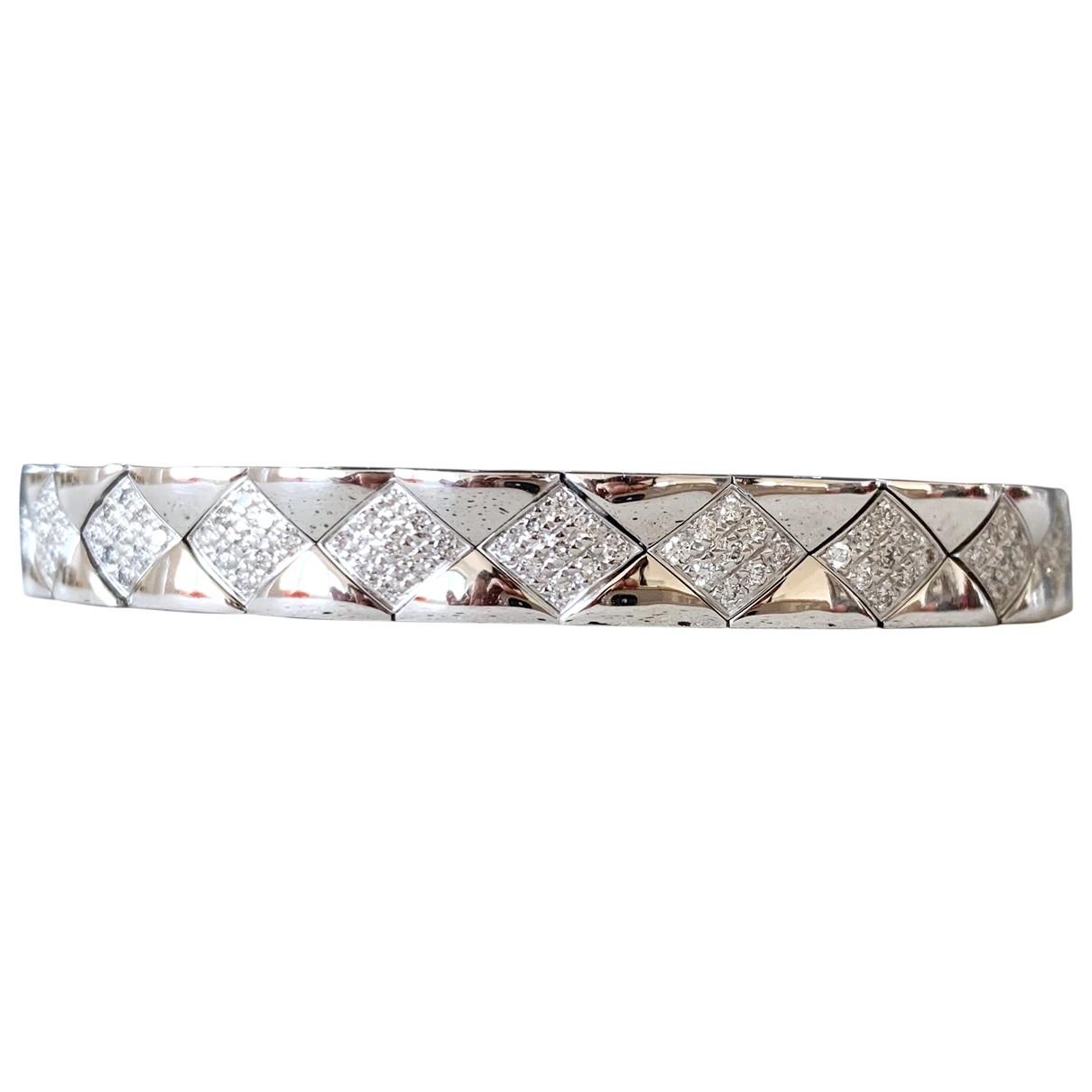 Chanel - Bracelet Matelasse pour femme en or blanc - blanc