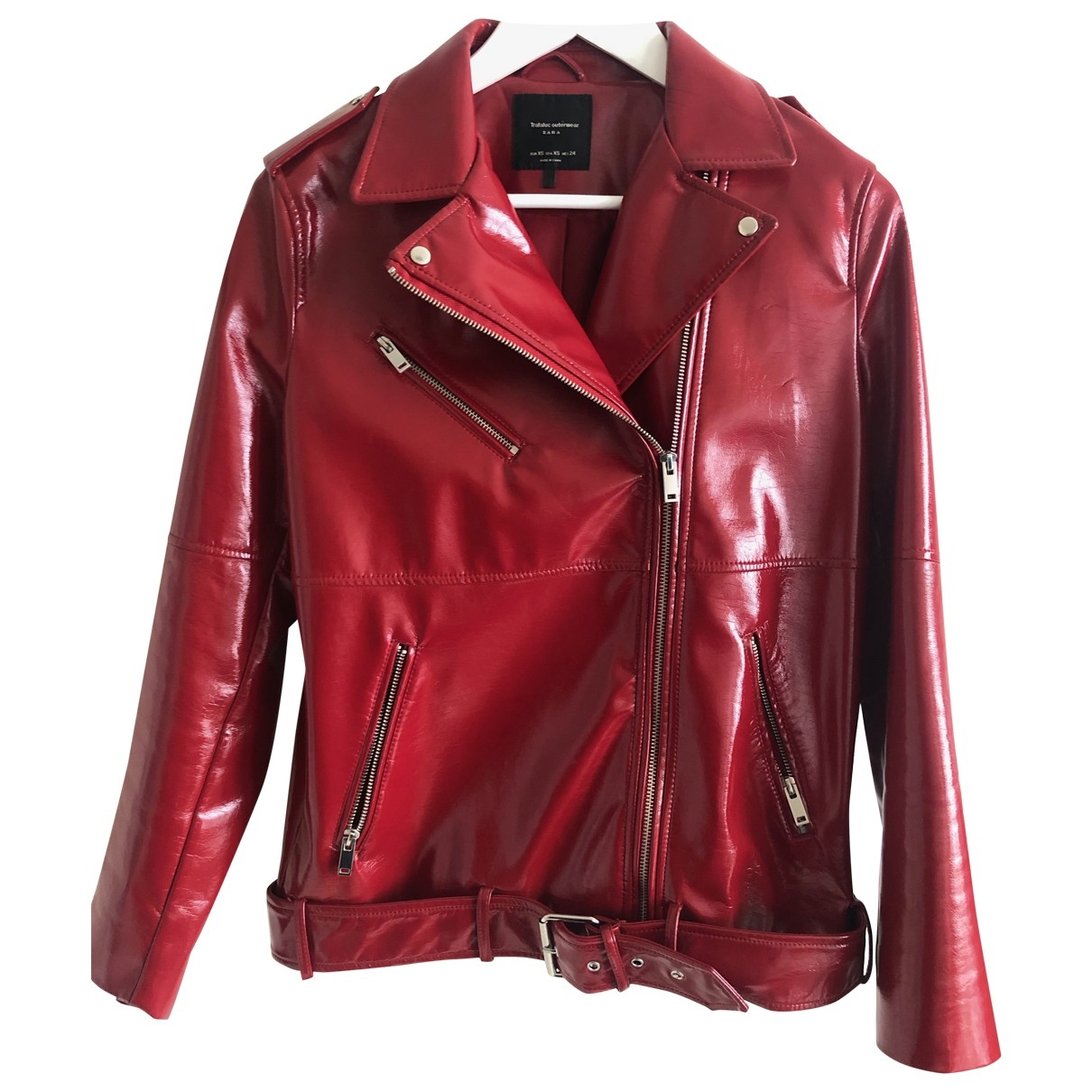 Zara \N Red Leather jacket for Women 36 FR