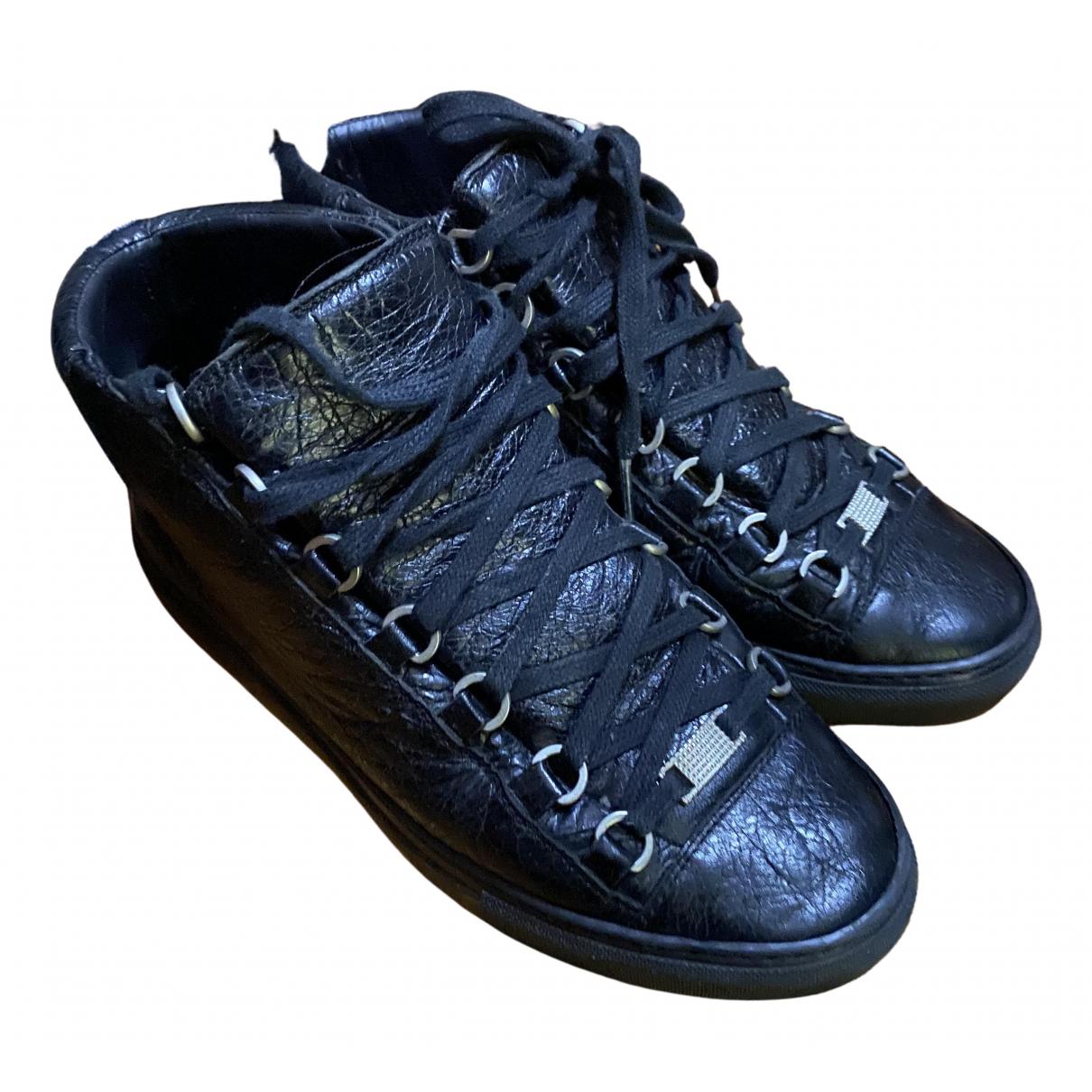 Balenciaga Arena Black Patent leather Trainers for Men 41 EU