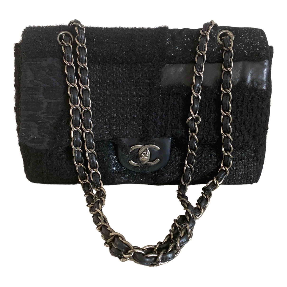 Chanel Timeless/Classique Black Tweed handbag for Women \N