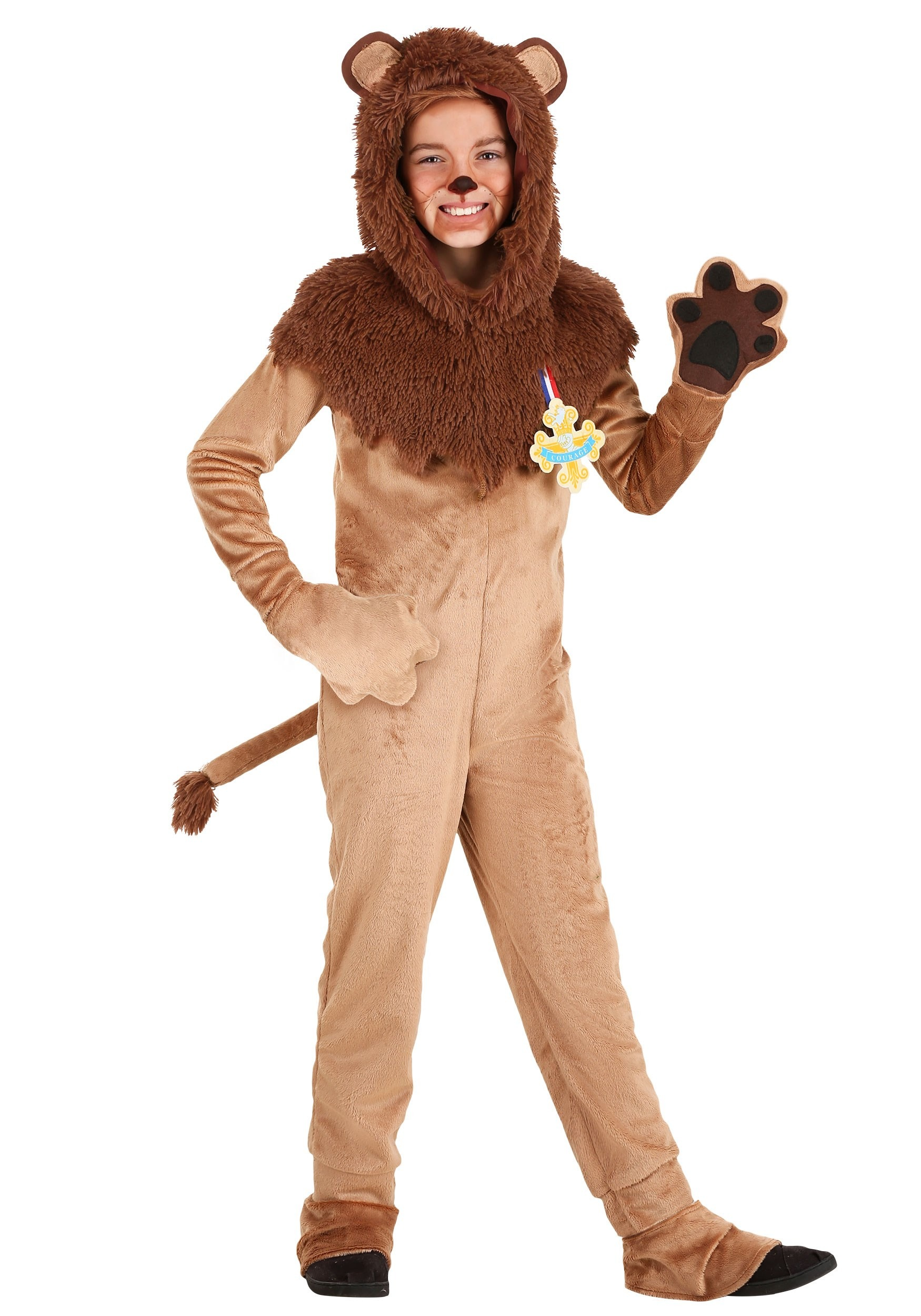 Wizard of Oz Cowardly Kid's Lion Costume
