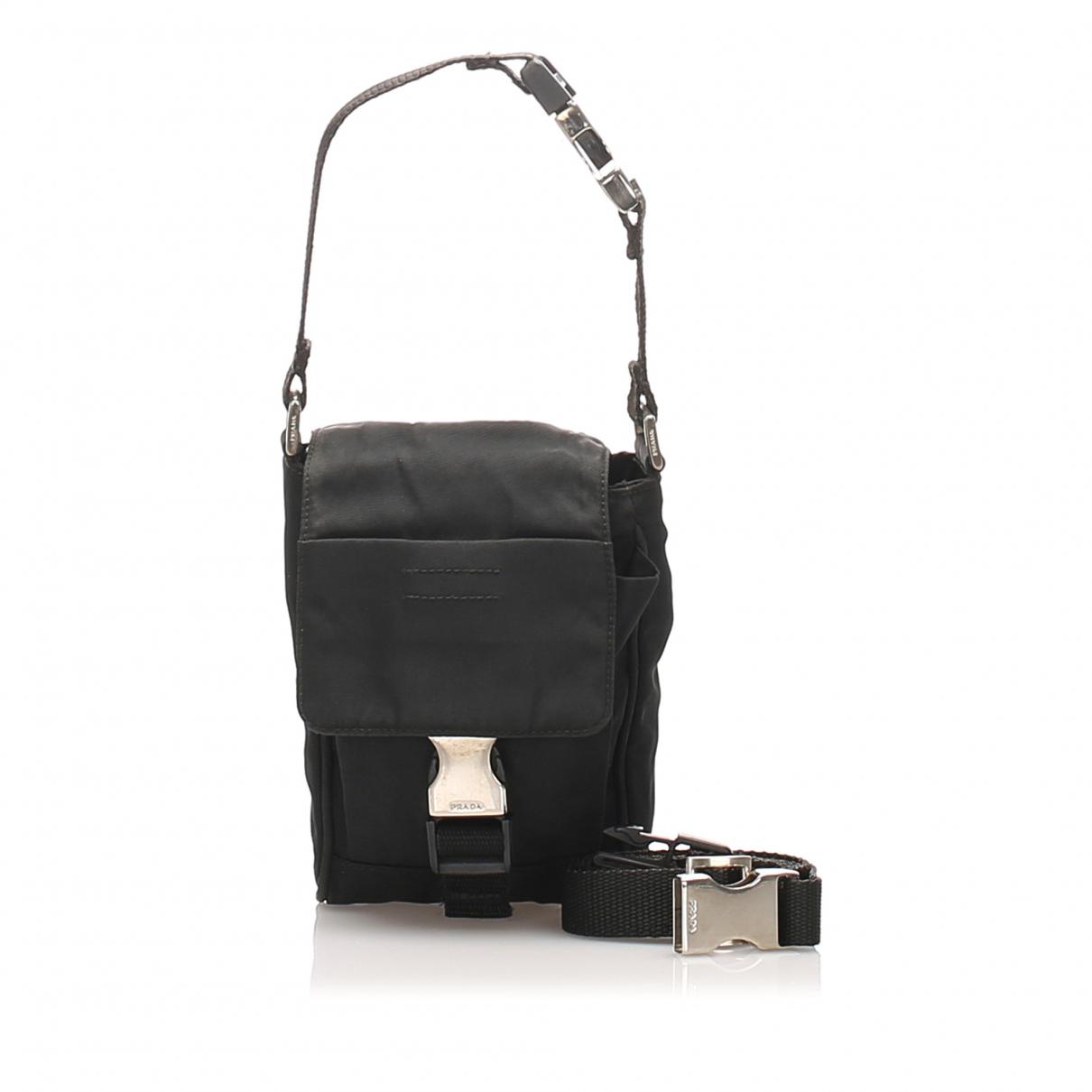 Prada N Black Cloth Belt bag for Men N