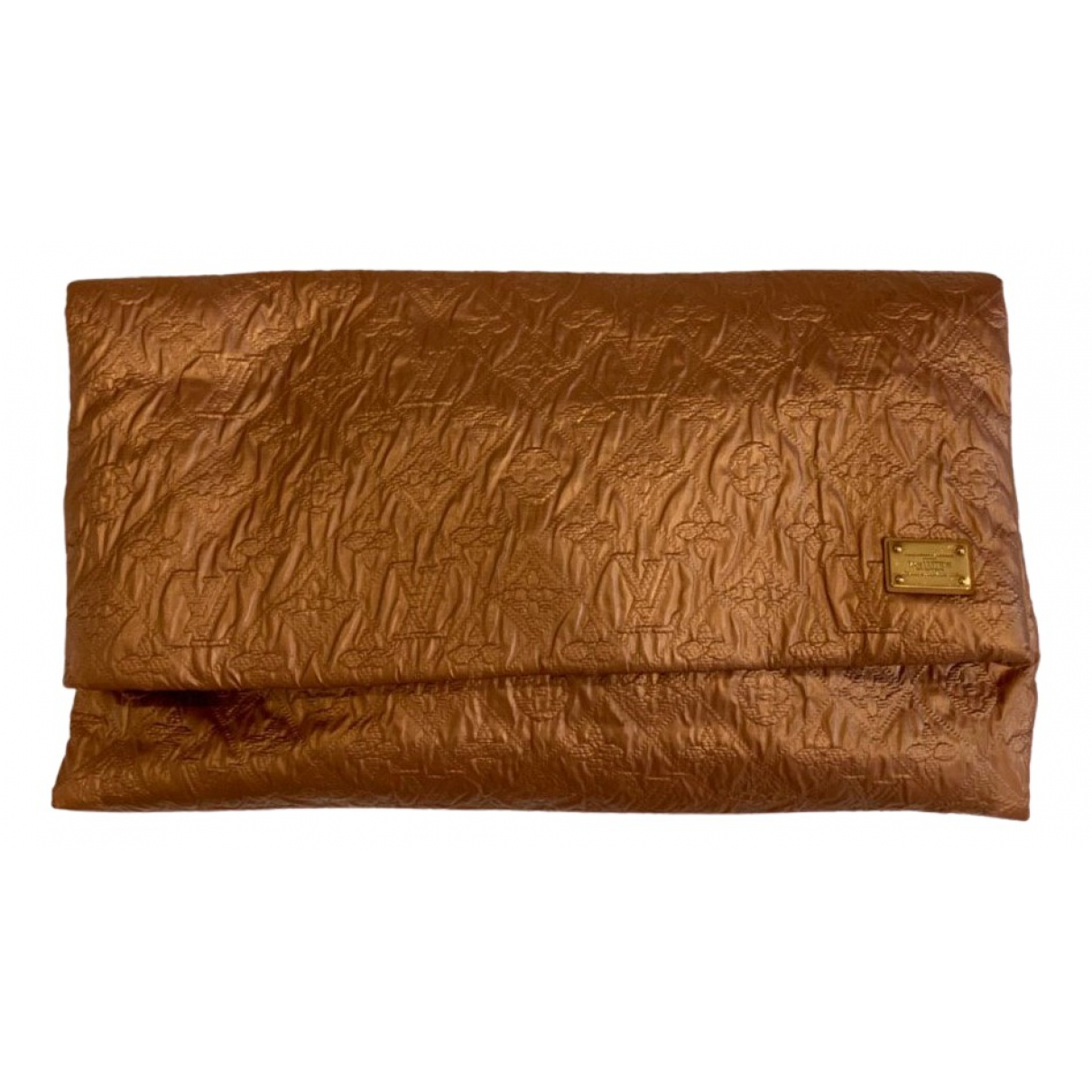 Louis Vuitton \N Clutch in  Gold Leinen