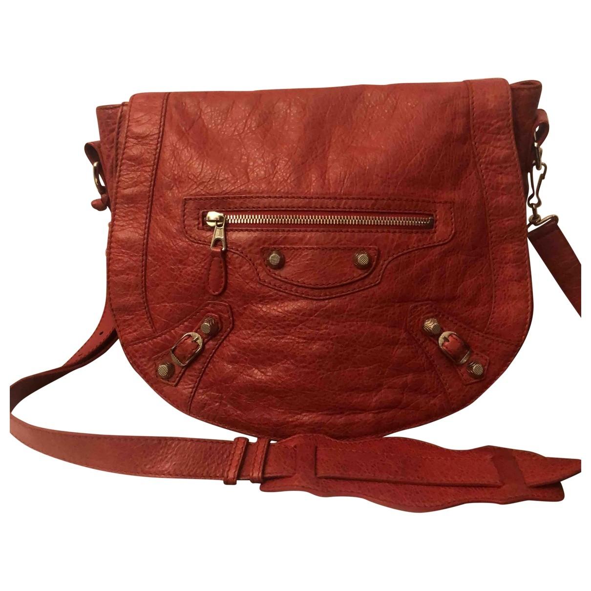 Balenciaga - Sac a main   pour femme en cuir - rouge