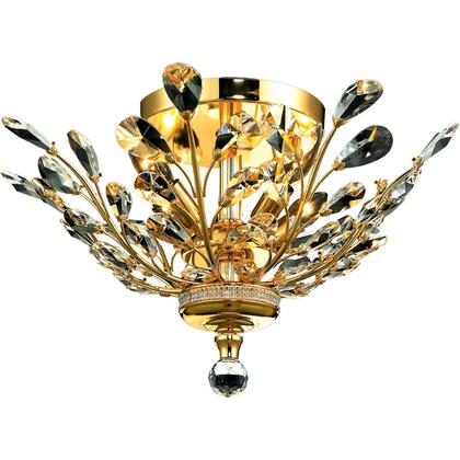 V2011F20G/SA Orchid 4 Light Gold Flush Mount Clear Spectra Swarovski
