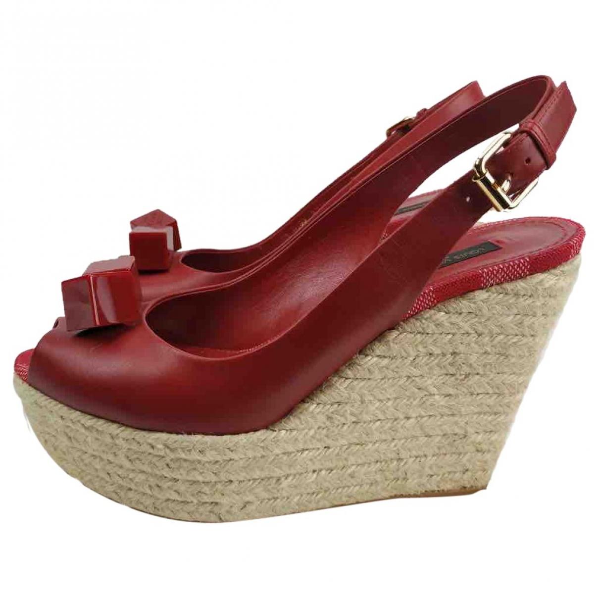 Louis Vuitton - Espadrilles   pour femme en cuir - rouge