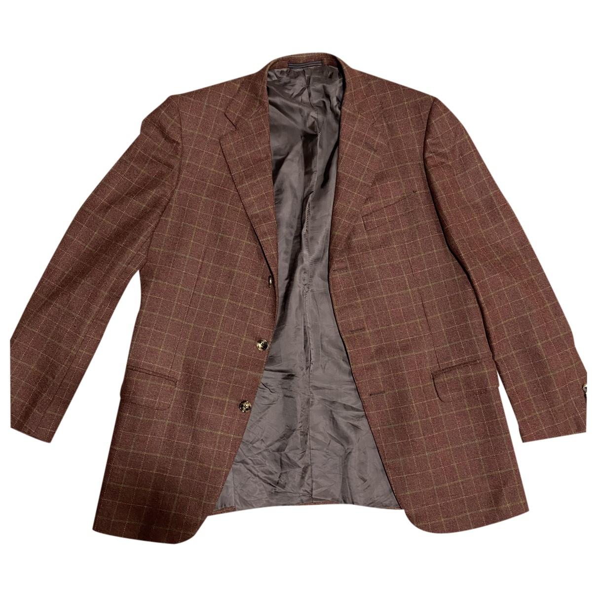 Ermenegildo Zegna N Orange Wool jacket  for Men 52 IT