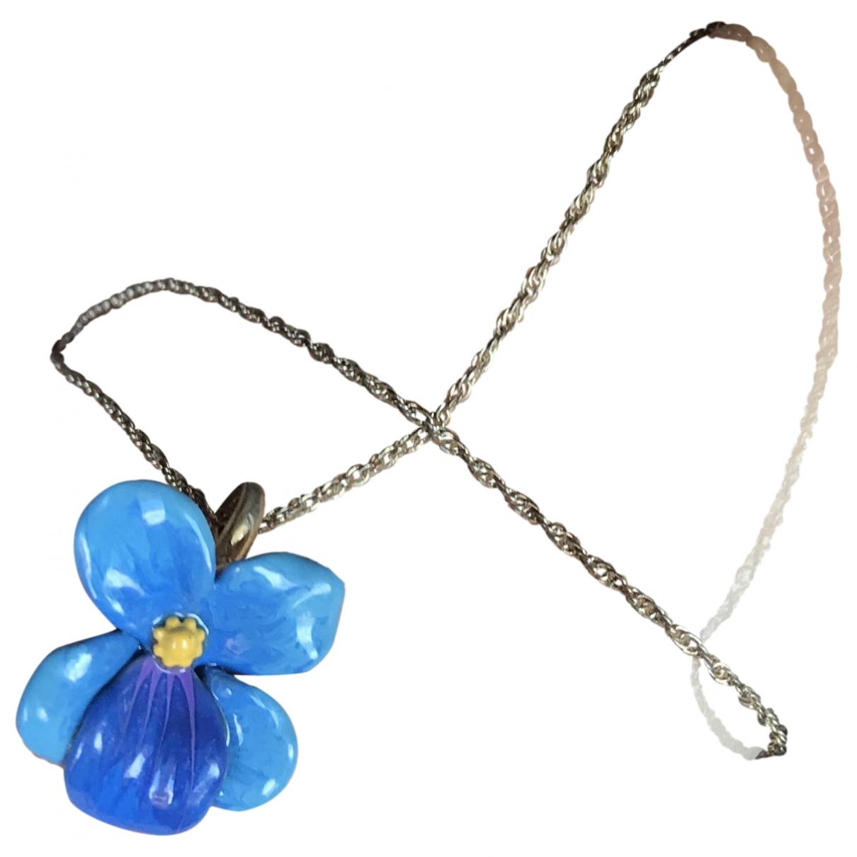 Les Néréides \N Turquoise Silver necklace for Women \N