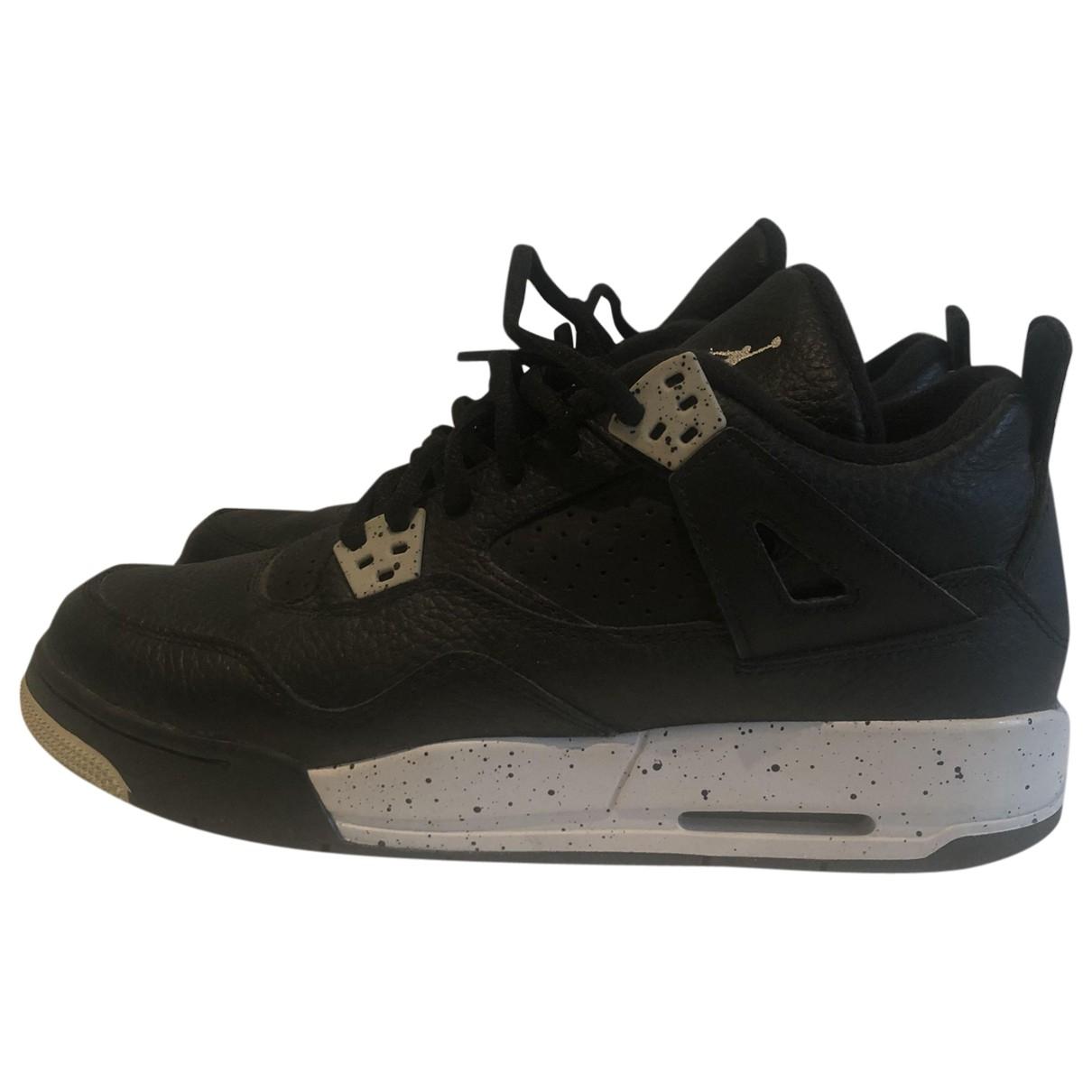 Jordan Air Jordan 4 Black Leather Trainers for Men 6 US