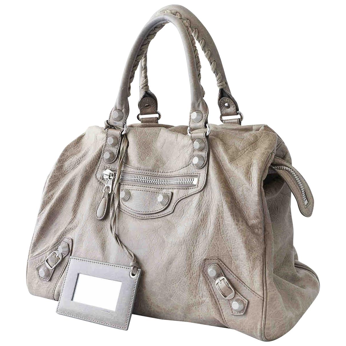 Balenciaga Work Beige Leather handbag for Women \N
