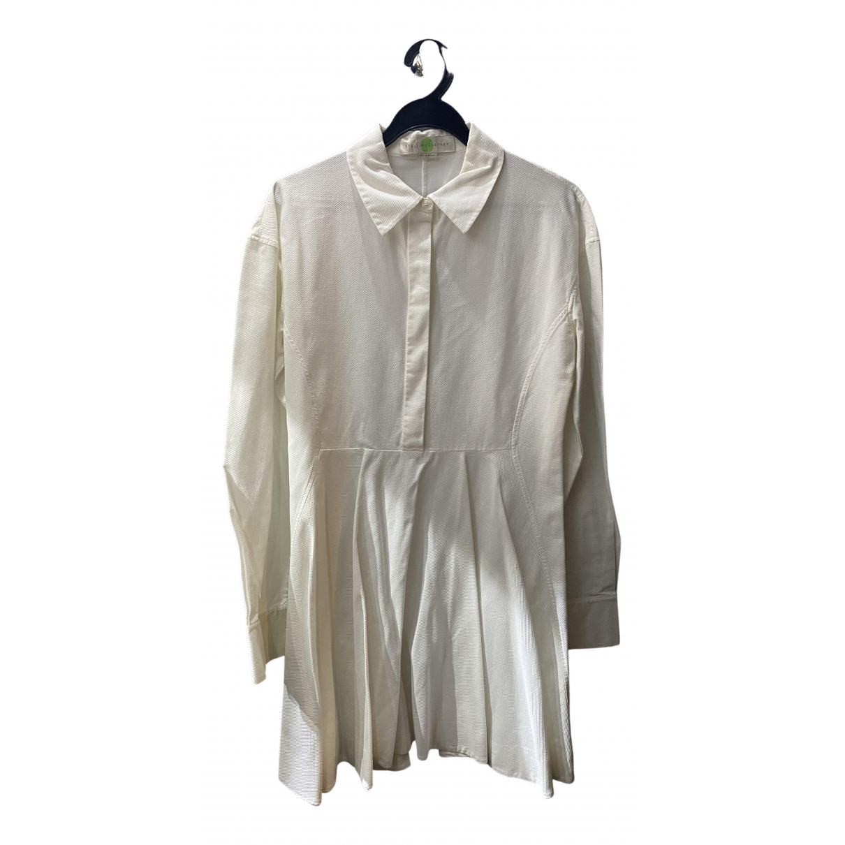 Stella Mccartney \N Kleid in  Weiss Baumwolle