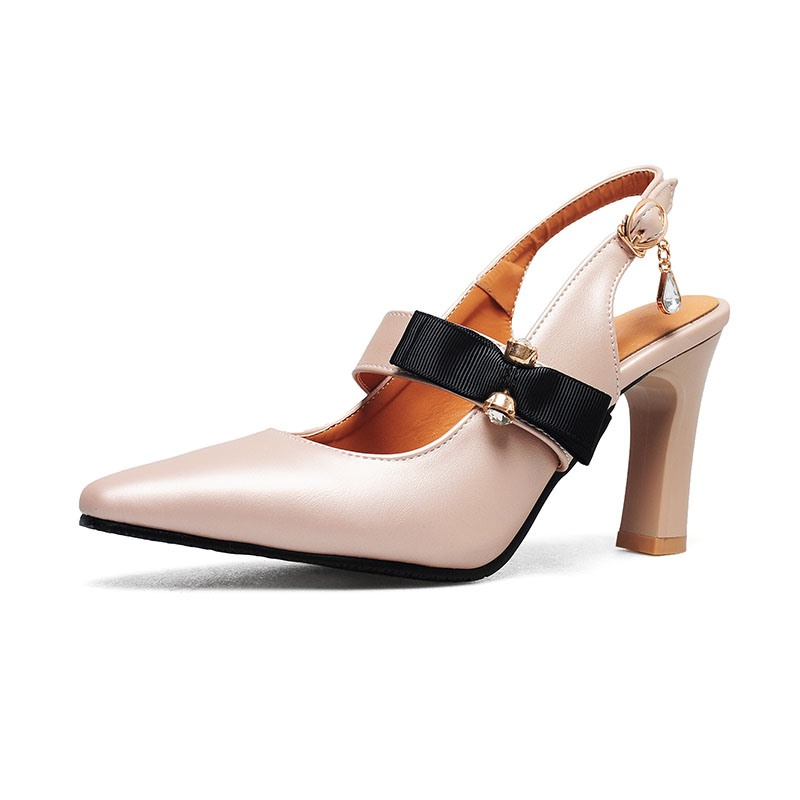 Ericdress Square Toe Chunky Heel Buckle Pumps