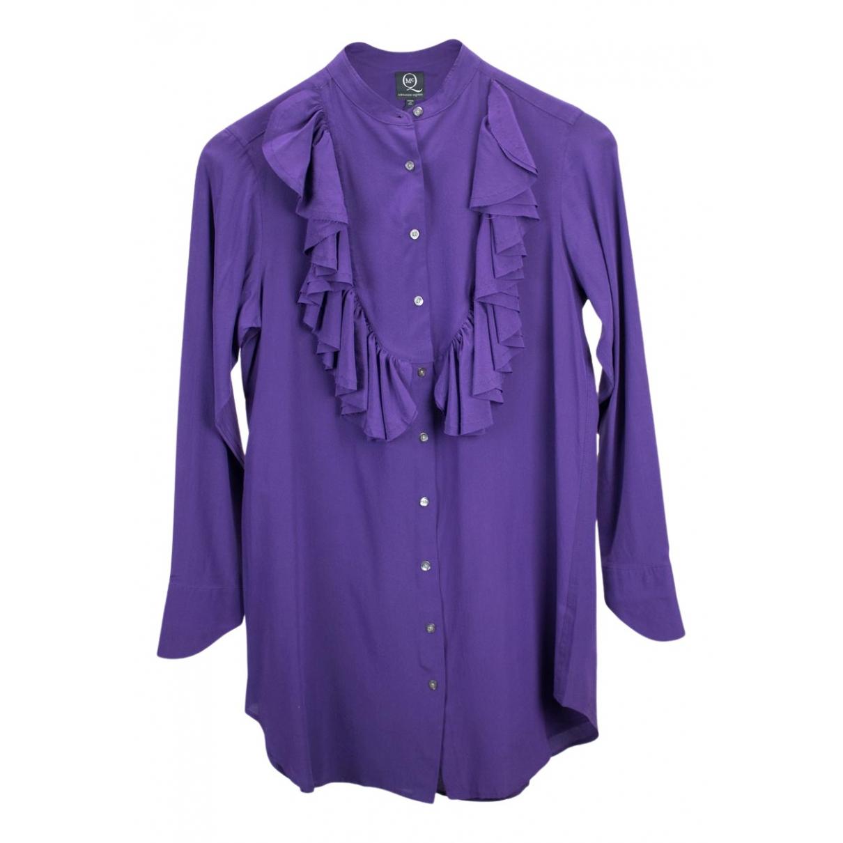 Alexander Mcqueen - Top   pour femme en soie - violet