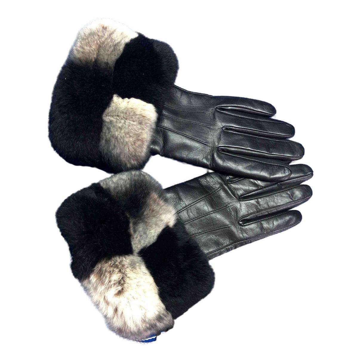 Pellicciai \N Handschuhe in  Schwarz Fell