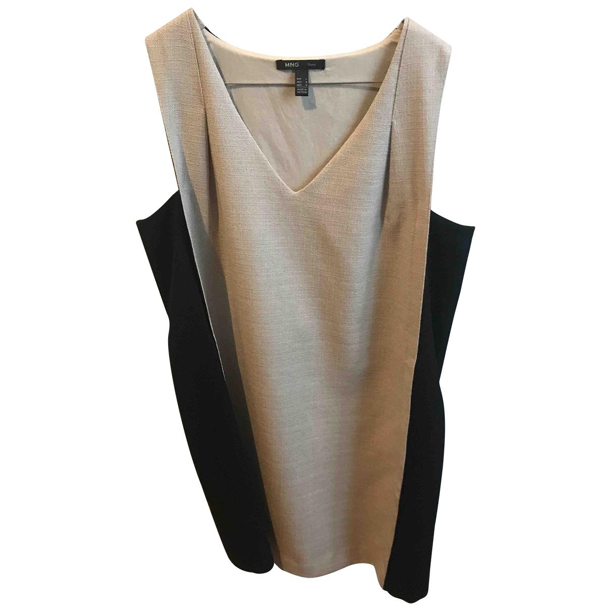 Mango \N Kleid in  Khaki Synthetik