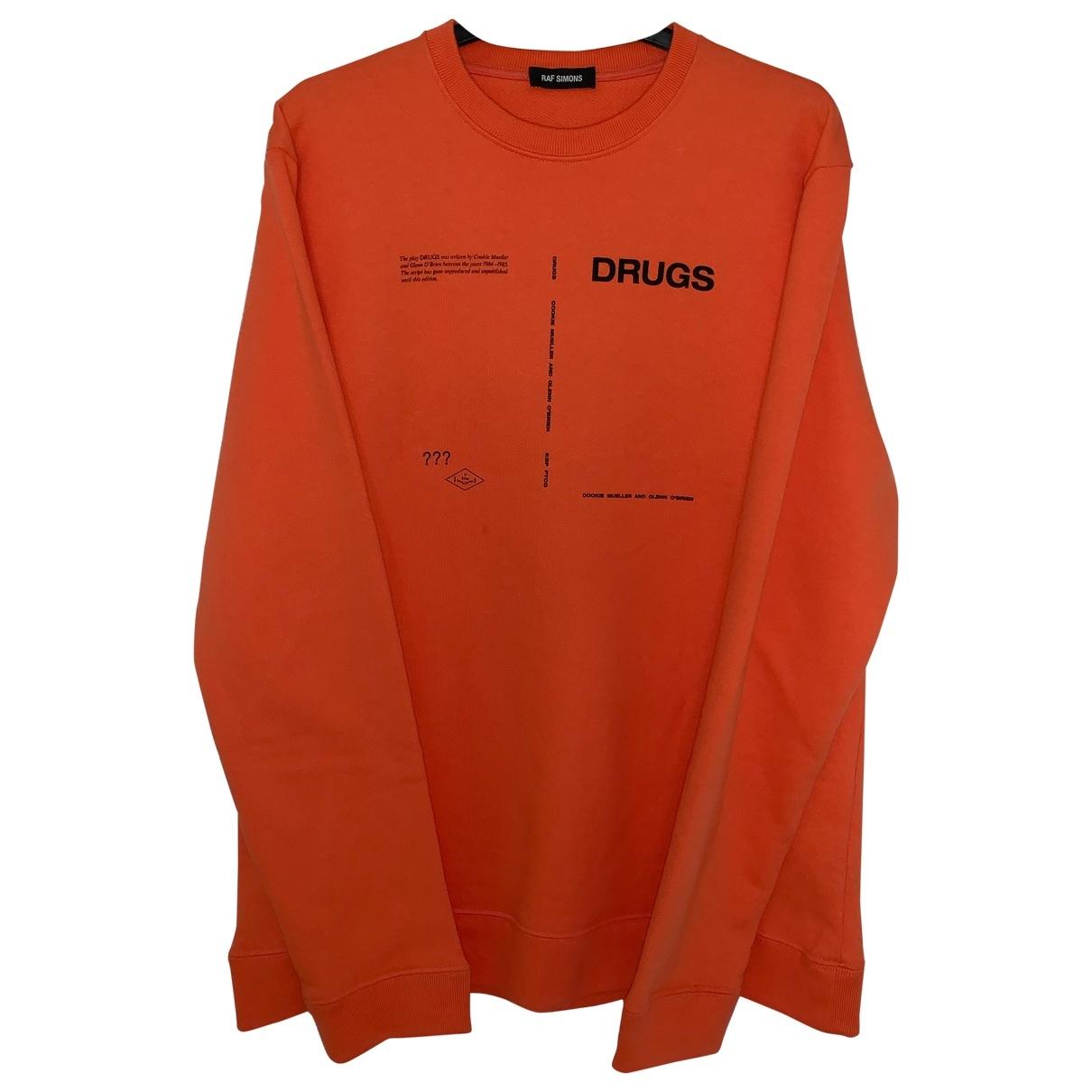 Raf Simons - Pulls.Gilets.Sweats   pour homme en coton - orange