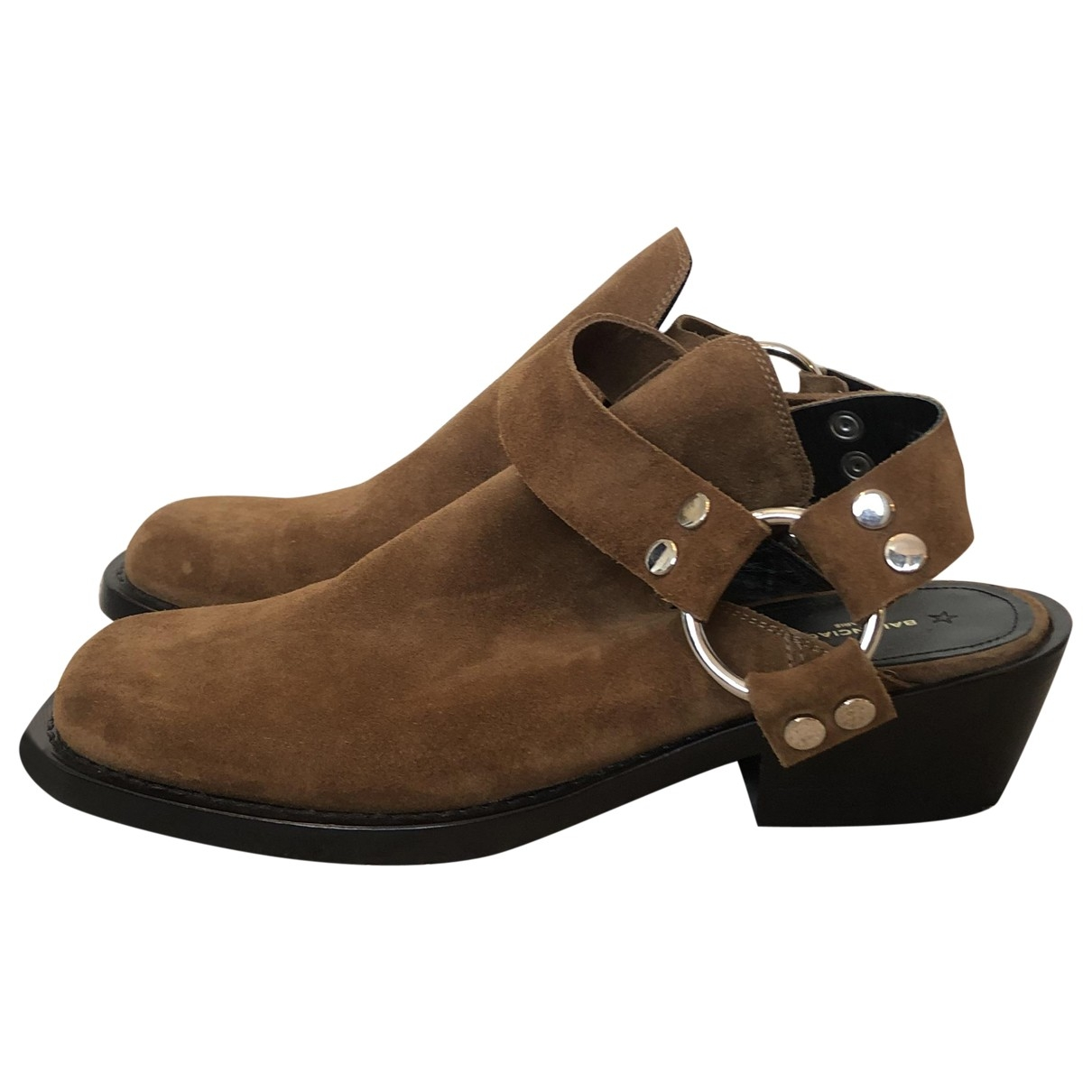 Balenciaga \N Brown Suede Flats for Men 40 EU