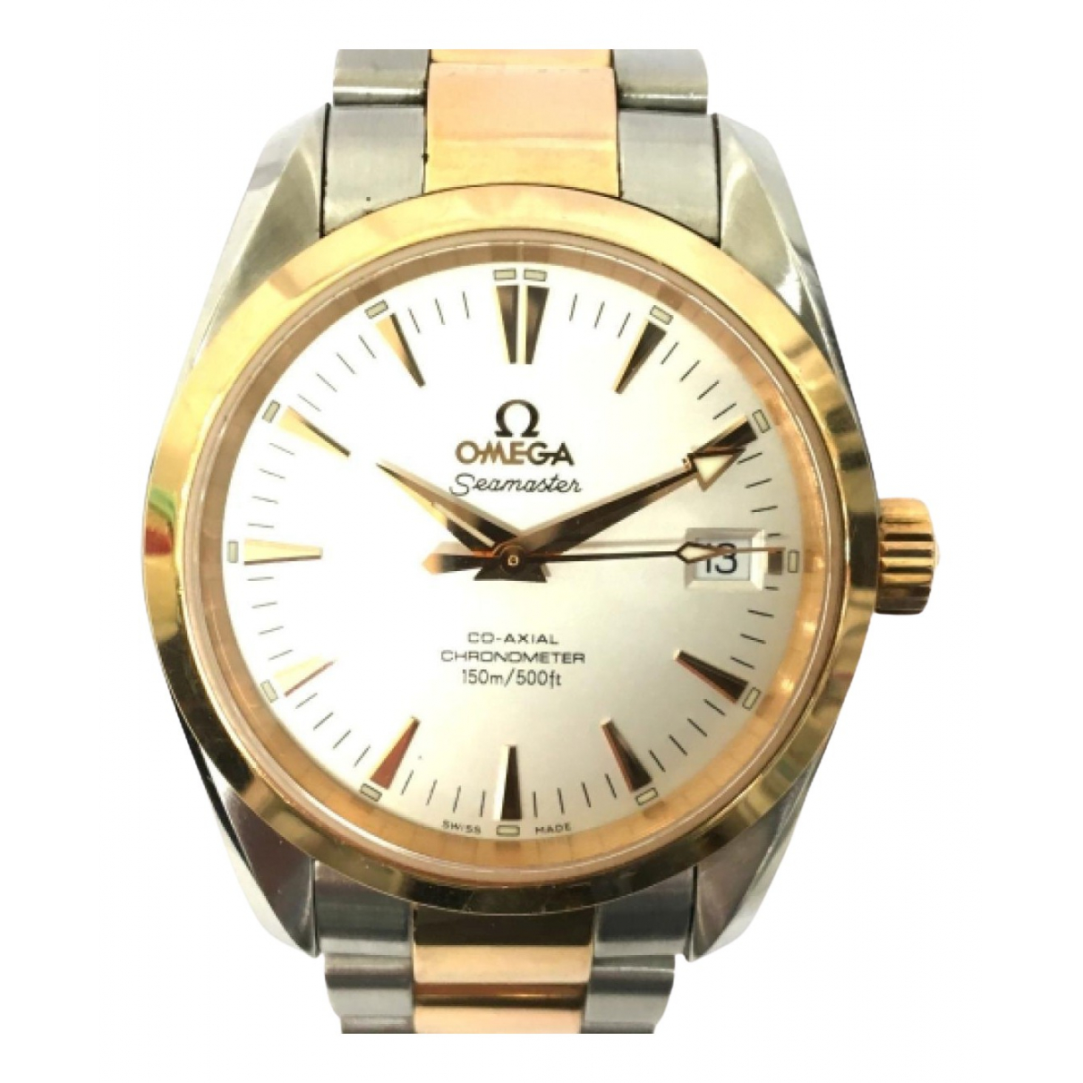 Omega - Montre Seamaster Aquaterra pour femme en or et acier - argente