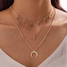 1pc Stern & Mond Charm Layered Halskette