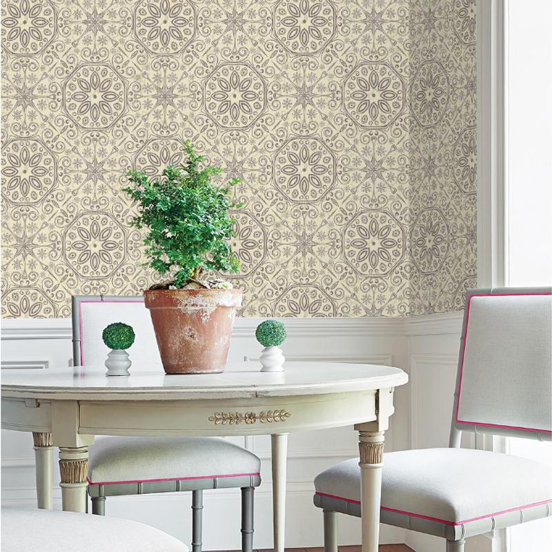Mildew Resistant European Style Silk Cloth Material Wall Murals