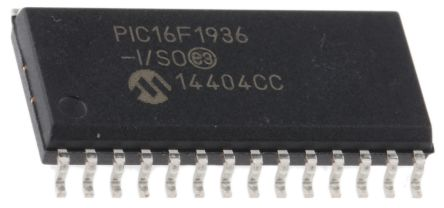 Microchip PIC16F1936-I/SO, 8bit PIC Microcontroller, PIC16F, 32MHz, 8192 x 14 words, 256 B Flash, 28-Pin SOIC (2)
