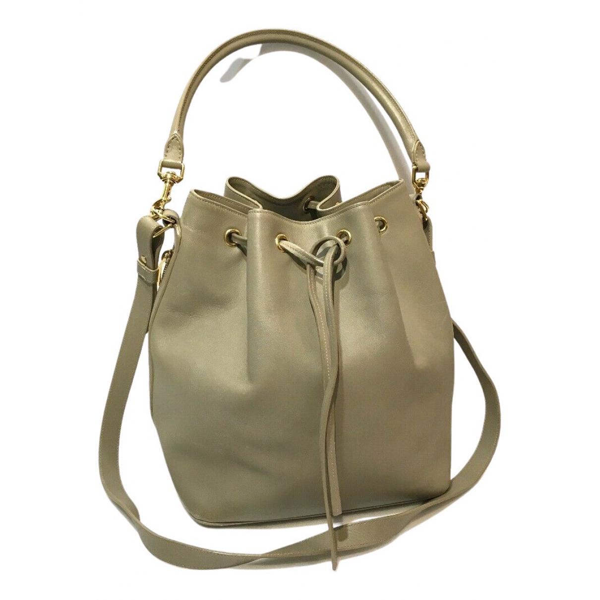 Saint Laurent Emmanuelle Beige Leather handbag for Women N
