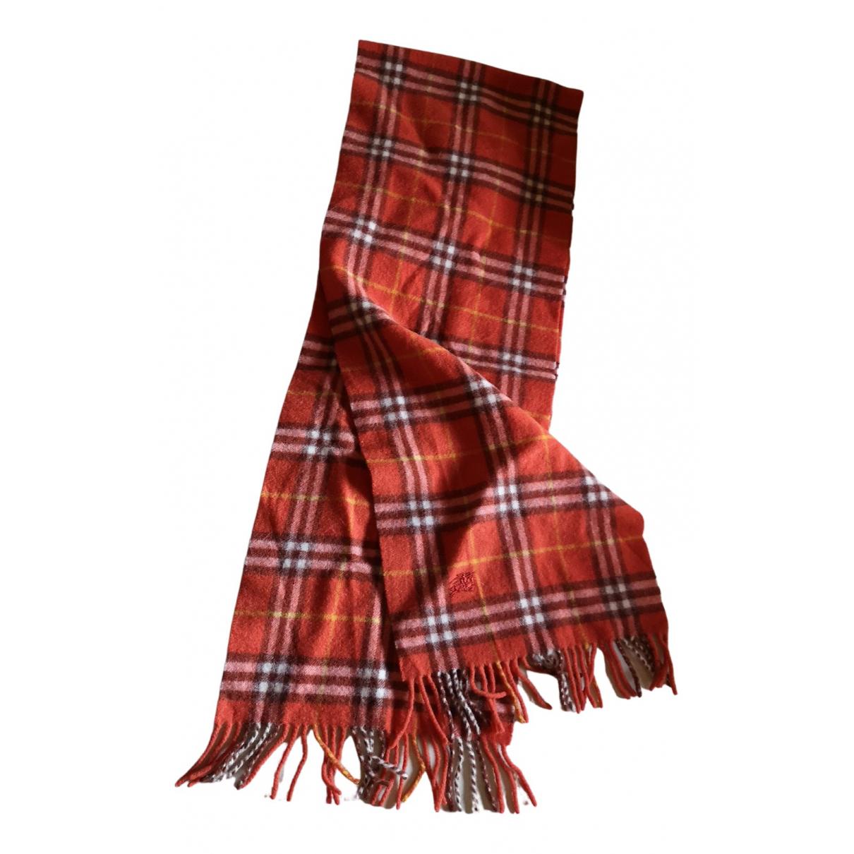 Burberry N Orange Wool scarf for Women N