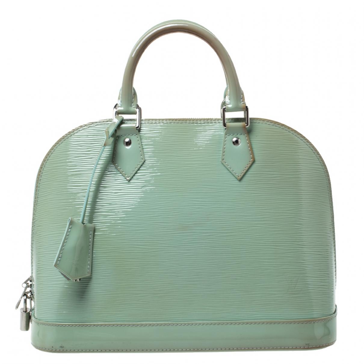 Louis Vuitton - Sac a main Alma pour femme en cuir verni