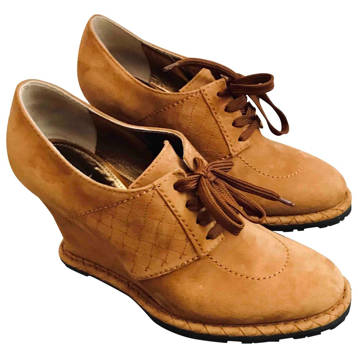 Bottega Veneta \N Camel Suede Ankle boots for Women 37 EU