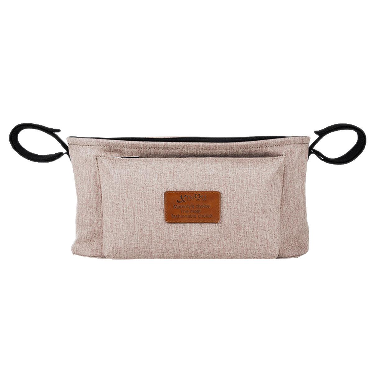 Stroller Organizer Baby Basket Pushchair Travel Diaper Nappies Storage Bag