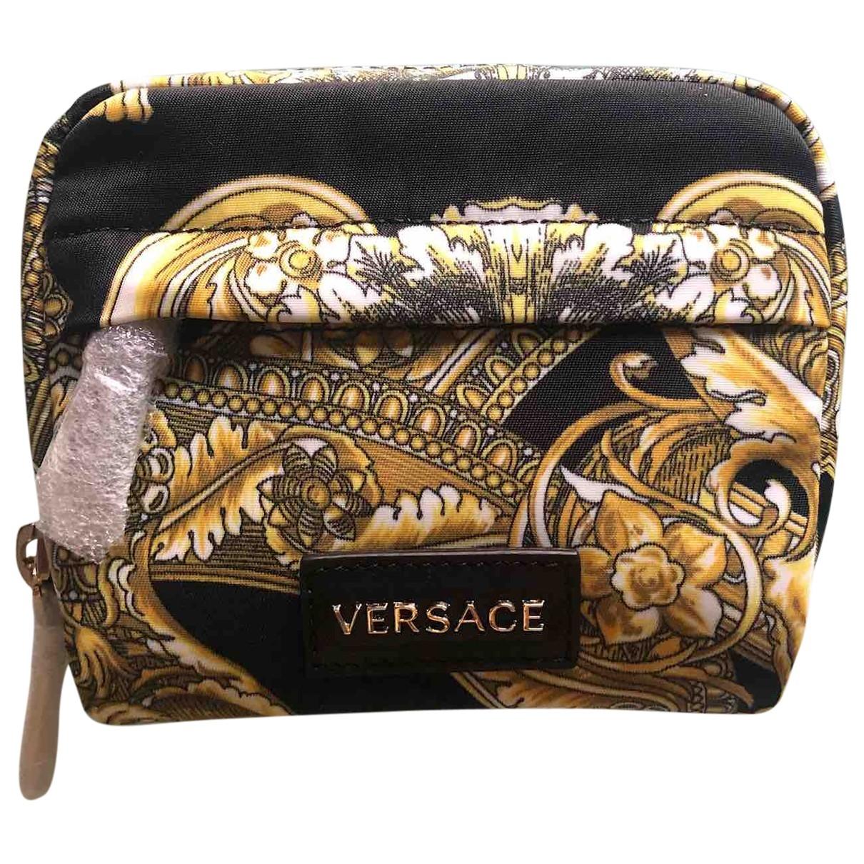 Versace \N Kleinlederwaren in  Bunt Leinen