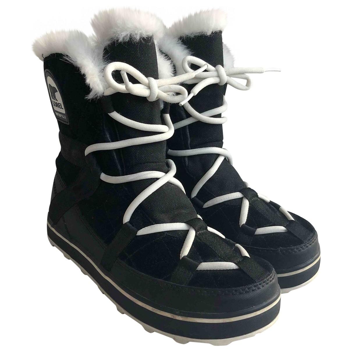 Sorel \N Black Suede Boots for Women 39.5 EU