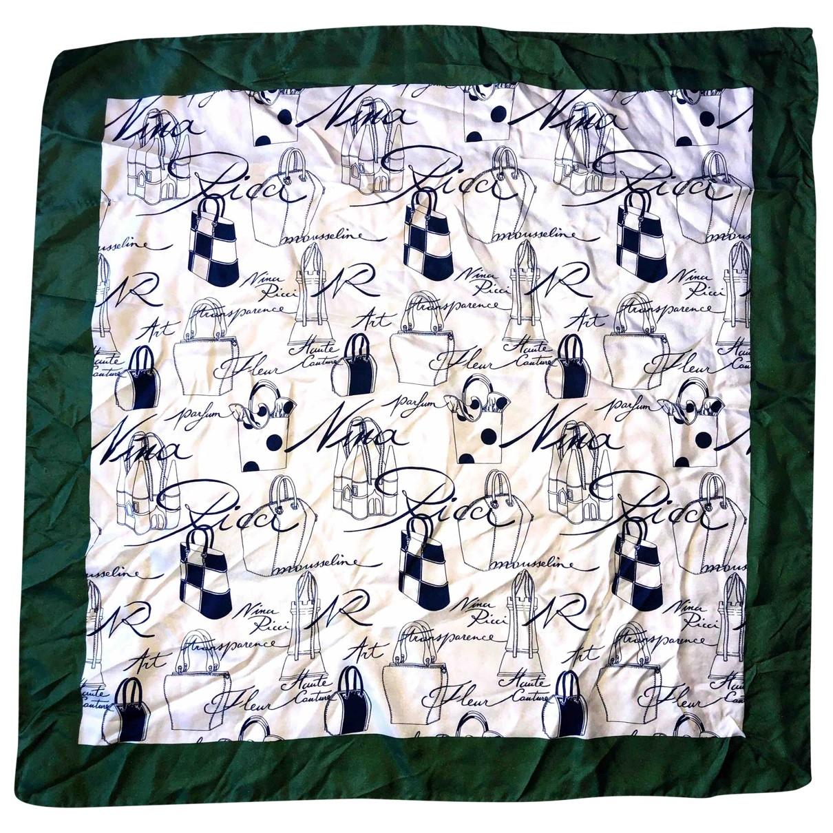 Nina Ricci \N Green Silk Silk handkerchief for Women \N