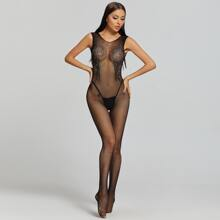 Fishnet Hollow-out Crotchless Bodystocking