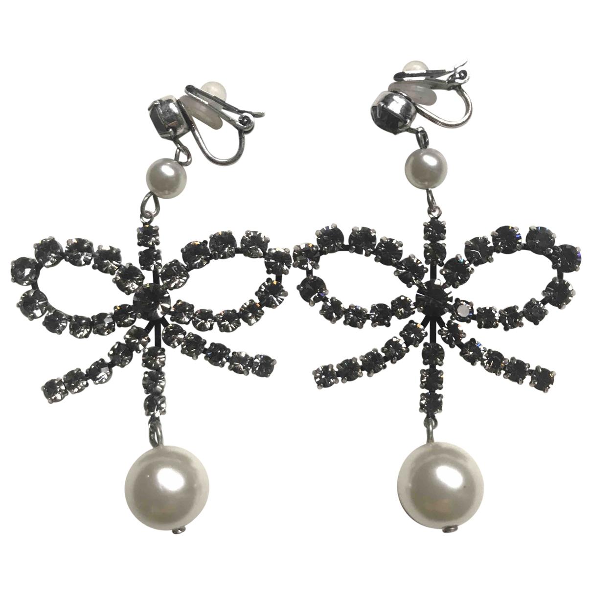 Erdem X H&m - Boucles doreilles   pour femme en perles - argente