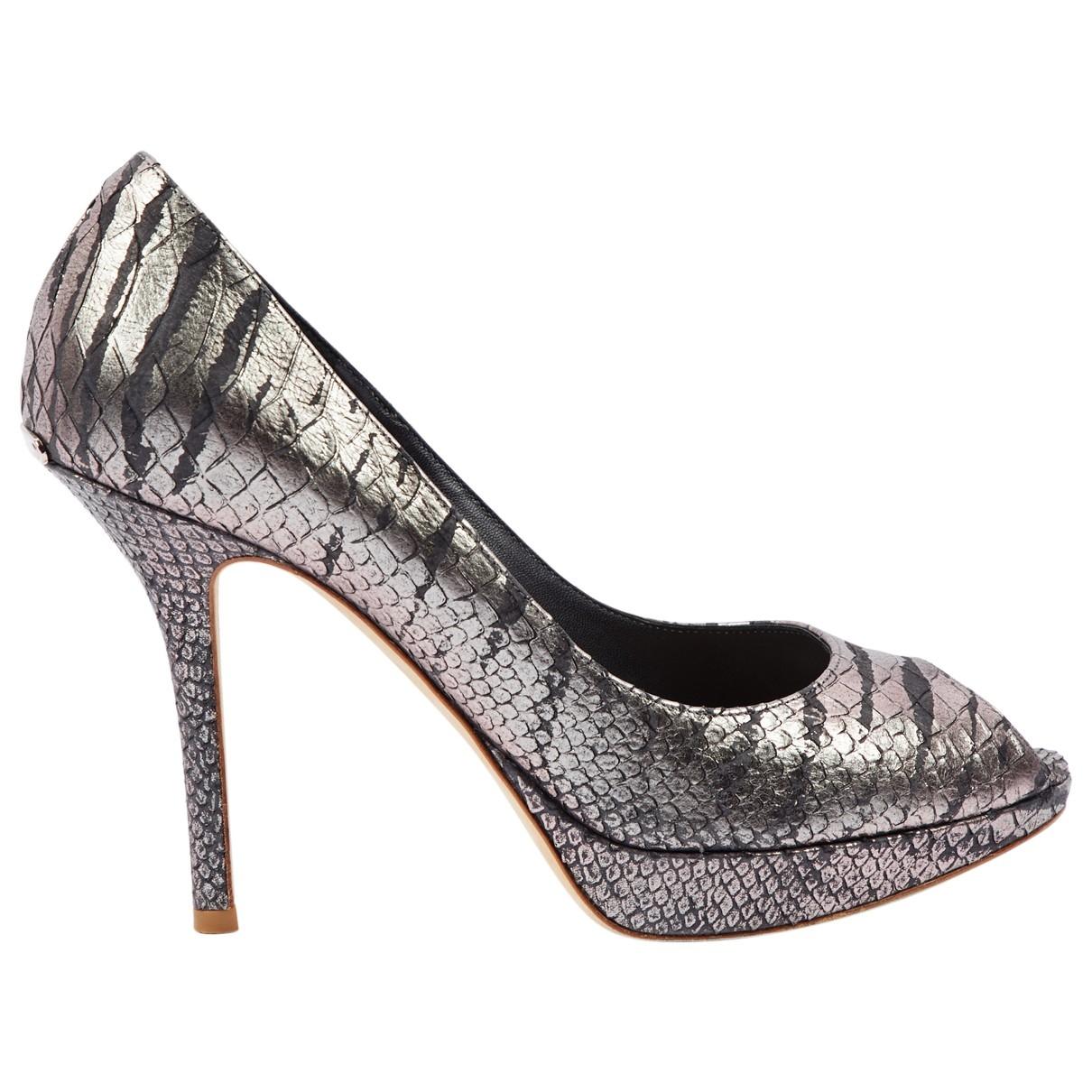 Dior \N Pumps in  Silber Python