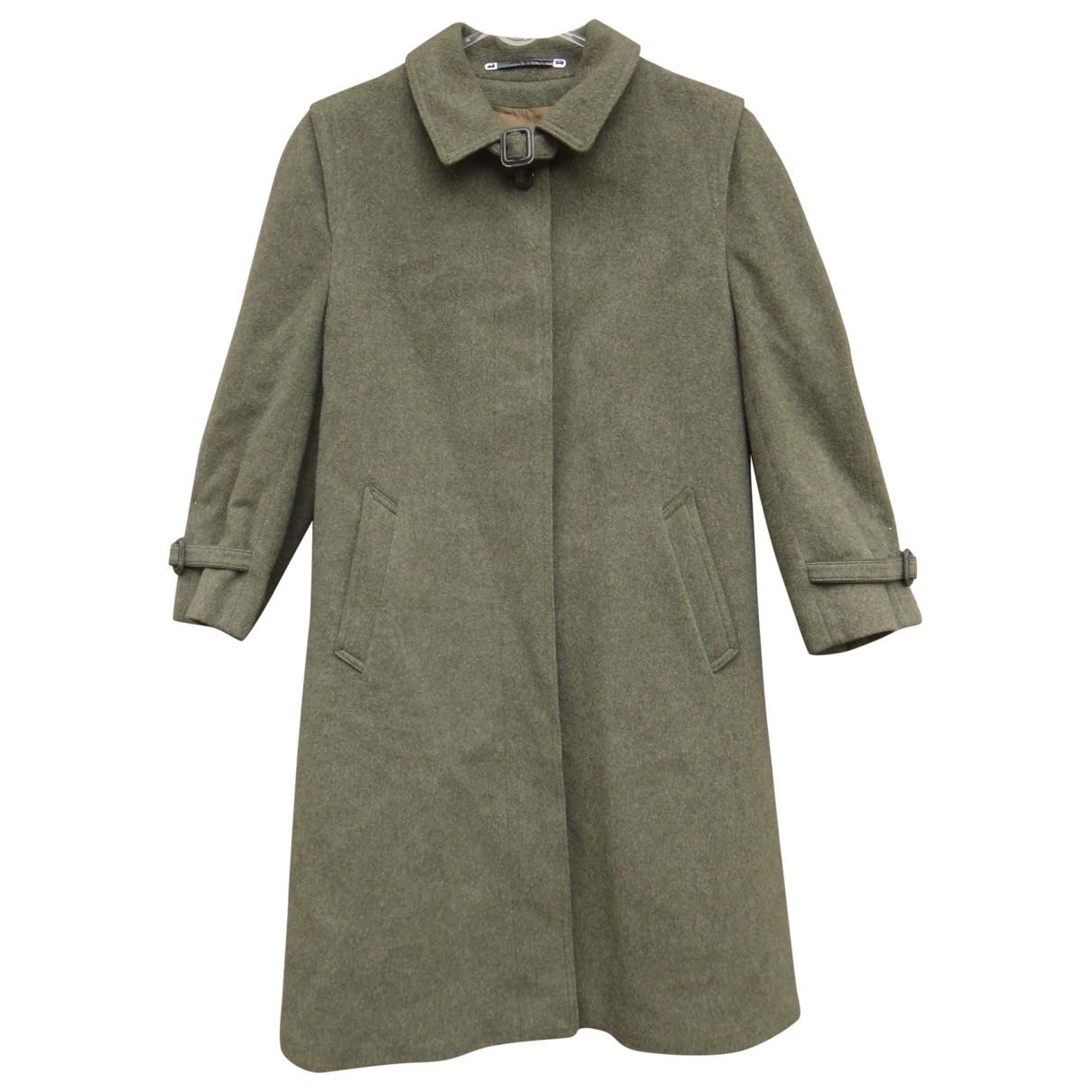 Burberry - Manteau   pour femme en laine - vert