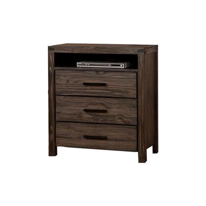 BM123884 Contemporary Style Wooden Media Chest  Dark
