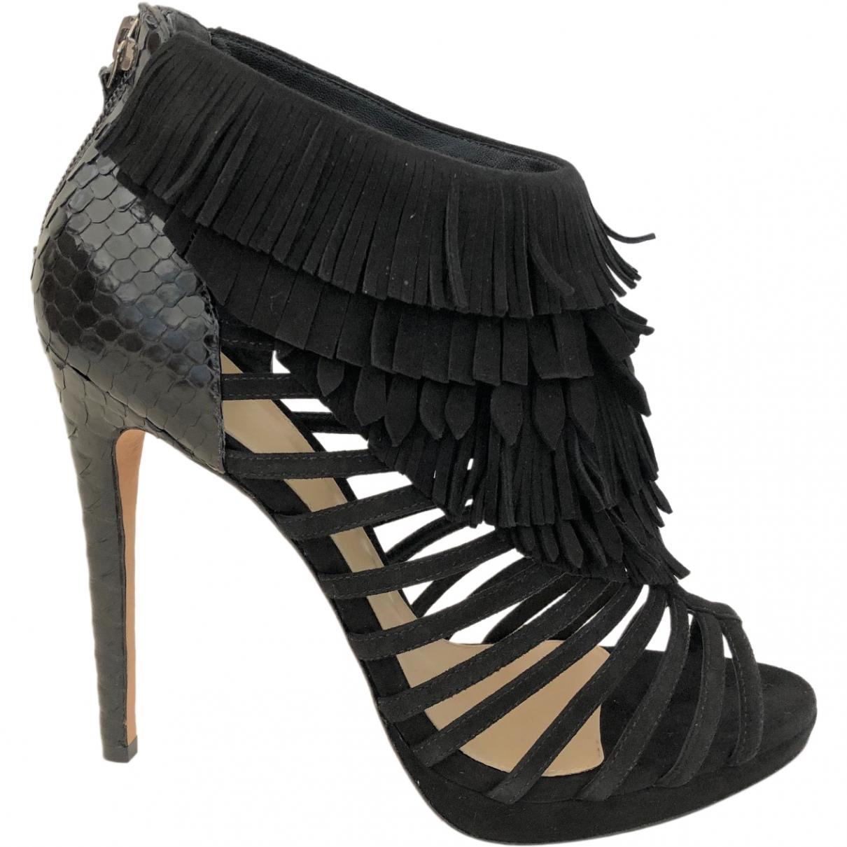 Alexandre Birman \N Black Suede Sandals for Women 39.5 EU