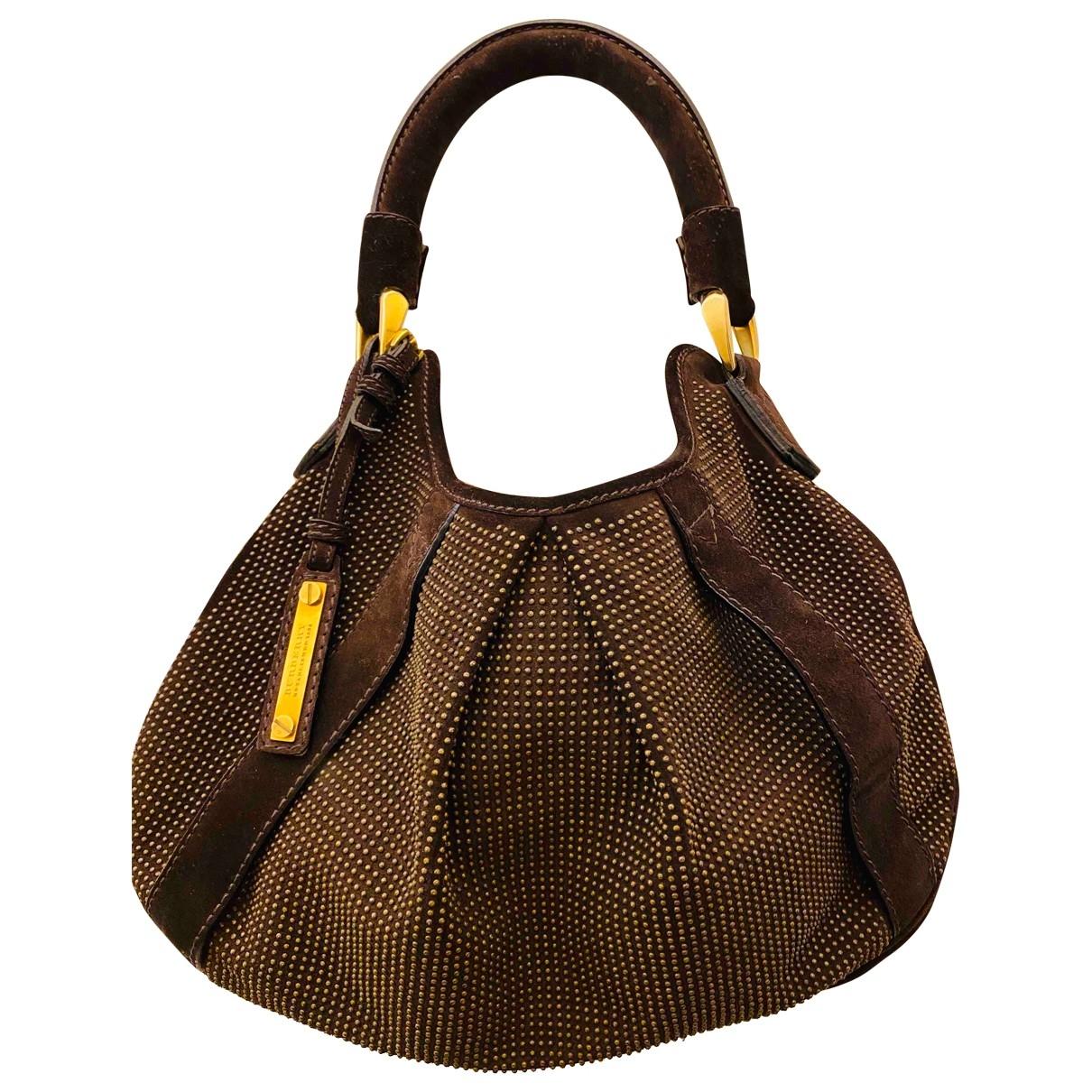 Burberry \N Handtasche in  Braun Veloursleder