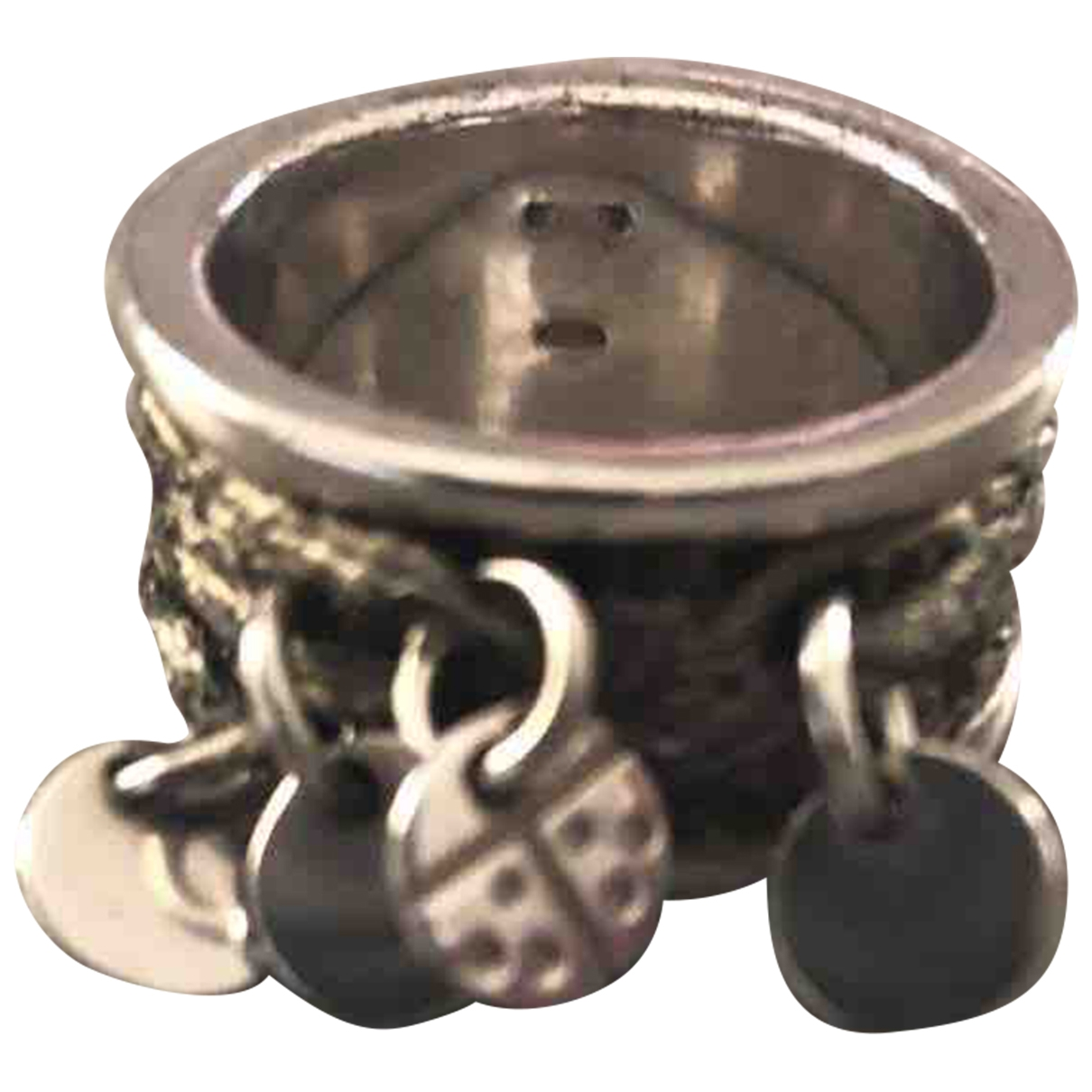 Non Signé / Unsigned \N Silver Steel ring for Women \N