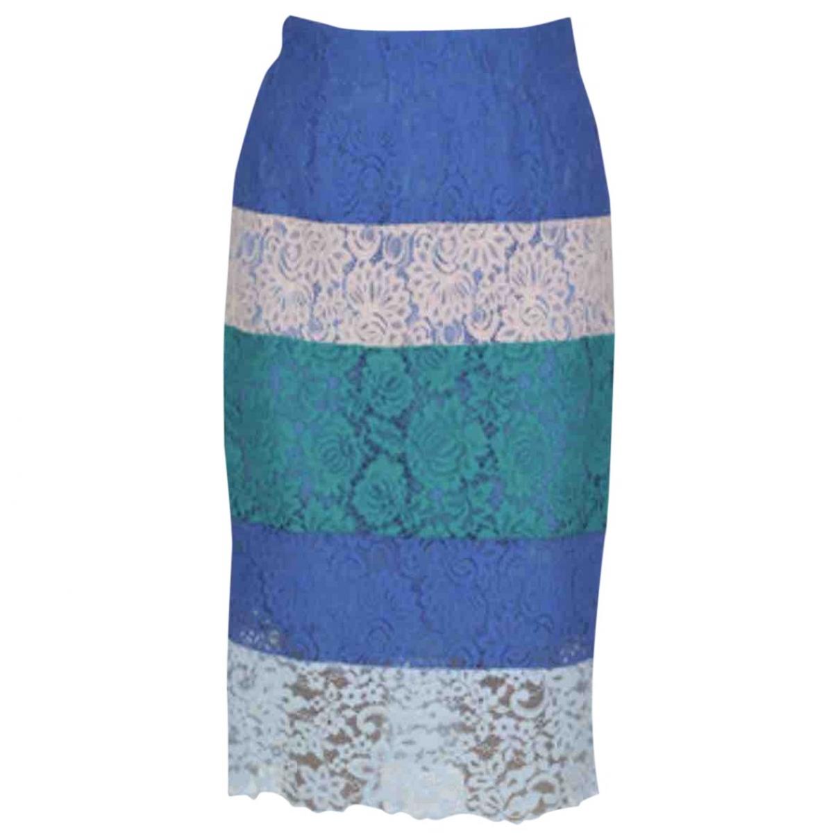 Pinko - Jupe   pour femme en coton - bleu